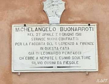 Memorialnaya doska Michelangelo